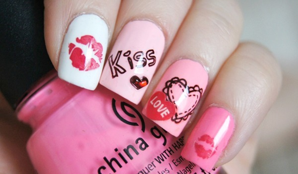 Fantabulous Kiss Nail Art: Must For Valentine's Day