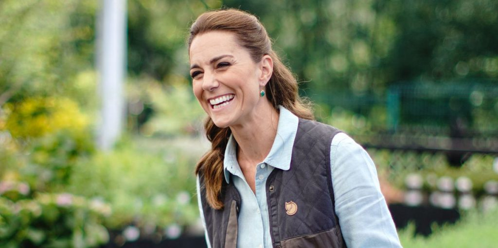 Kate Middleton Wears Skinny Jeans, Vest, and Sneakers for First In-Person Event Since Quarantine