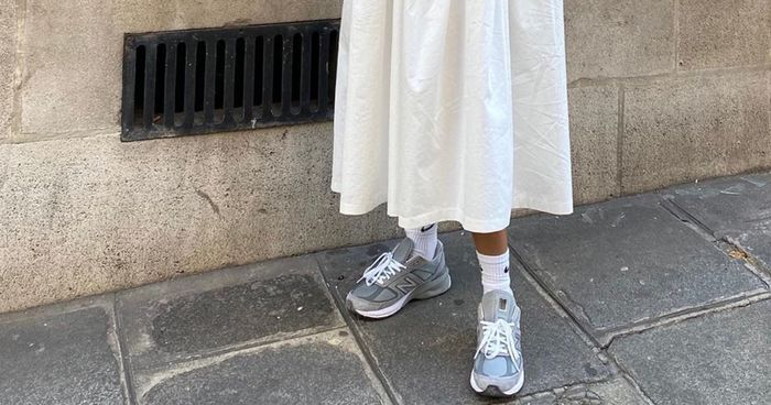 6 Dress With Trainers Outfit That Are Perfect for Summer