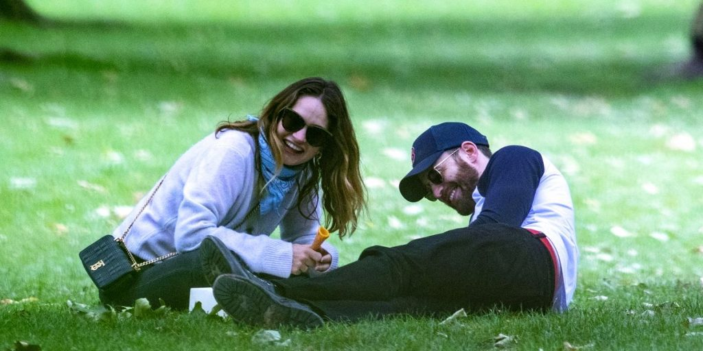 See Photo of Chris Evans and Lily James Happy on Their London Park Date