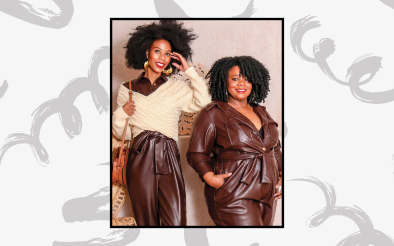 Sisters Leslie and Gail Thompson Wear Textured Wigs Proudly