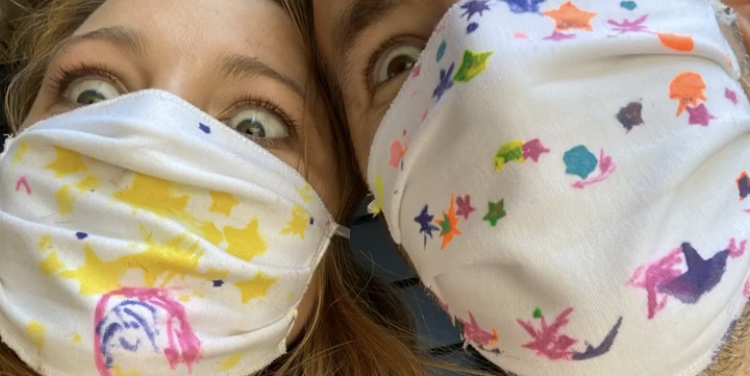 Ryan Reynolds and Blake Lively Posted a Rare Selfie in Face Masks Made by Their Daughters