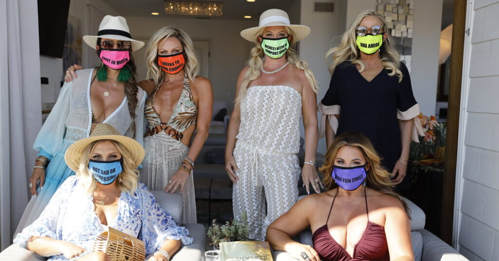 Watch What Happens When Real Housewives Don't Wear Masks