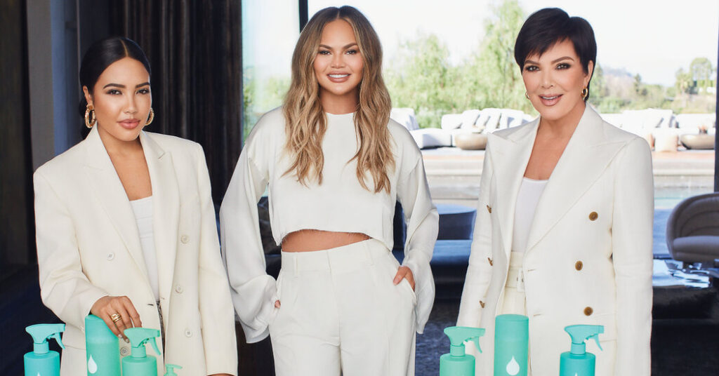 Chrissy Teigen, Emma Grede and Kris Jenner Launch Cleaning Brand