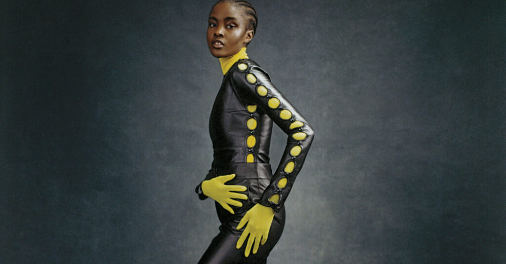 This Fall, Leather Meets Bright, Body-Con Pieces